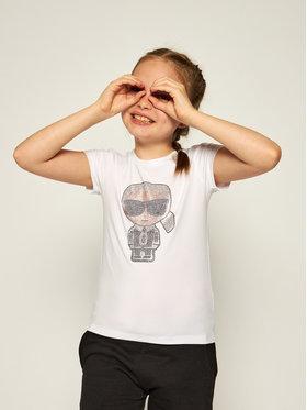 KARL LAGERFELD KARL LAGERFELD T-shirt Z15253 S Blanc Regular Fit
