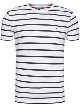 TOMMY HILFIGER TOMMY HILFIGER T-Shirt Stretch MW0MW10800 Biały Slim Fit