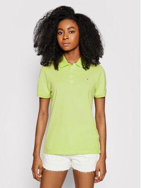 Tommy Jeans Tommy Jeans Тениска с яка и копчета Tjw DW0DW09199 Зелен Slim Fit