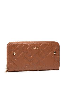 Liu Jo Liu Jo Velká dámská peněženka Ecs Xl Zip Around AF1051 E0538 Hnědá