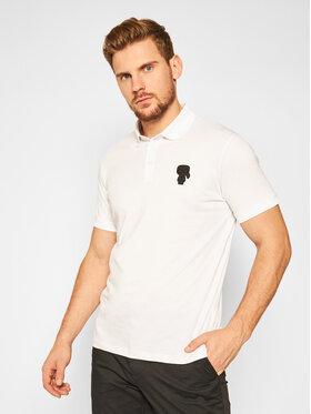 KARL LAGERFELD KARL LAGERFELD Тениска с яка и копчета 745025 502223 Бял Regular Fit