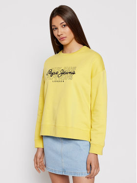Pepe Jeans Pepe Jeans Felpa Bere PL581076 Giallo Relaxed Fit