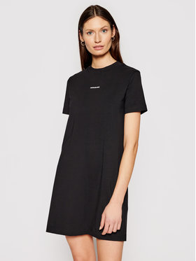 Calvin Klein Jeans Calvin Klein Jeans Každodenné šaty J20J215654 Čierna Regular Fit