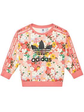 adidas adidas Mikina HER Studio London Floral Crew GN4217 Růžová Loose Fit