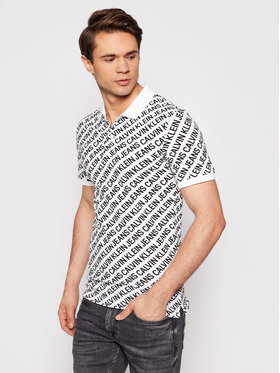 Calvin Klein Jeans Calvin Klein Jeans Pólóing J30J317444 Fehér Slim Fit