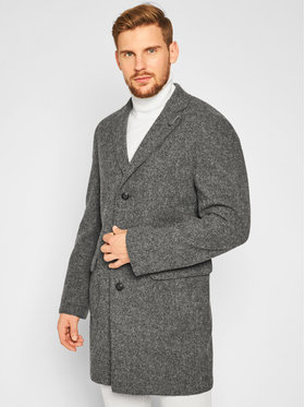 Baldessarini Baldessarini Gyapjú kabát Clark-2 18686/000/8898 Szürke Regular Fit
