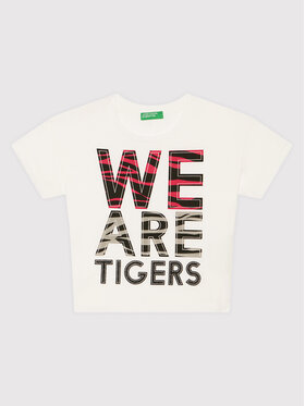 United Colors Of Benetton United Colors Of Benetton T-Shirt 3096C1537 Λευκό Boxy Fit