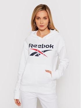 Reebok Reebok Bluză Identity Logo GI6700 Alb Oversize