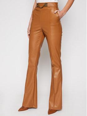 Elisabetta Franchi Elisabetta Franchi Spodnie skórzane PA-355-06E2-V329 Brązowy Slim Fit