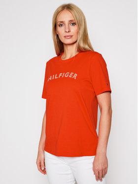 Tommy Hilfiger Tommy Hilfiger T-Shirt Outline WW0WW29368 Πορτοκαλί Regular Fit