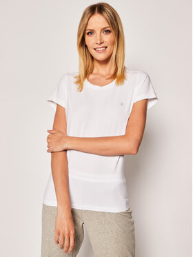 Calvin Klein Underwear Calvin Klein Underwear Set 2 tricouri Lounge 000QS6442E Alb Regular Fit