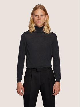Boss Boss Bluză cu gât Musso-P 50392083 Negru Slim Fit