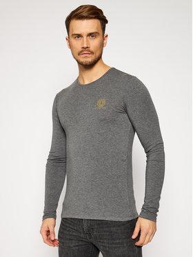 Versace Versace Marškinėliai ilgomis rankovėmis Girocollo AUU01007 Pilka Regular Fit