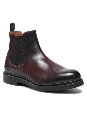 Gino Rossi Gino Rossi Kotníková obuv s elastickým prvkem MI08-C878-877-07 Hnědá