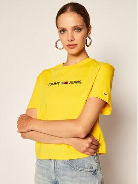 Tommy Jeans Tommy Jeans Tricou Tjw Linear Logo Tee DW0DW08615 Galben Modern Fit