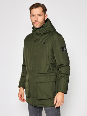 Calvin Klein Jeans Calvin Klein Jeans Parka Fake Down Technical J30J316614 Verde Regular Fit