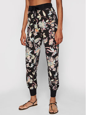 TwinSet TwinSet Hlače 211TT3132 Crna Relaxed Fit