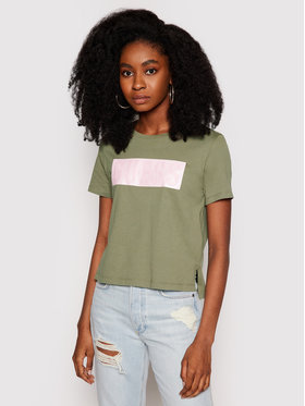 Guess Guess T-shirt W1RI05 JA900 Verde Relaxed Fit