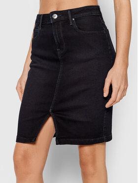 Lee Lee Džínsová sukňa Pencil L38GPHBX Tmavomodrá Slim Fit