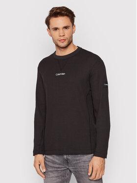 Calvin Klein Calvin Klein Majica dugih rukava Waffle K10K107888 Crna Regular Fit