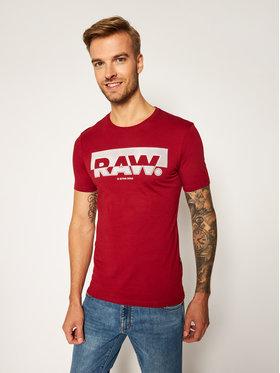 G-Star Raw G-Star Raw T-Shirt Graphic D17689-336-5298 Bordowy Slim Fit