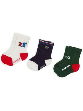 Lacoste Lacoste Set di 3 paia di calzini lunghi da bambini RA1378 Multicolore
