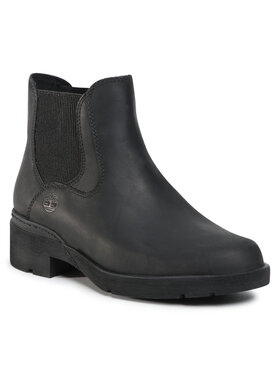 Timberland Timberland Členková obuv s elastickým prvkom Graceyn Chelsea TB0A2CTC Čierna
