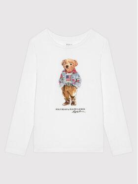 Polo Ralph Lauren Polo Ralph Lauren Блуза Bear 313854212003 Бял Regular Fit