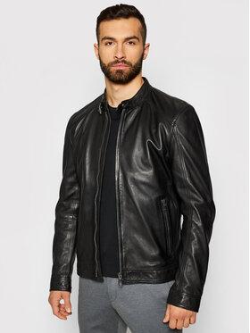 Joop! Joop! Kožená bunda Peel_S 1500130 Čierna Regular Fit