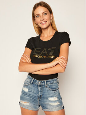EA7 Emporio Armani EA7 Emporio Armani T-Shirt 6HTT01 TJ2HZ 1200 Černá Slim Fit