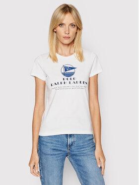 Polo Ralph Lauren Polo Ralph Lauren T-Shirt Ssl 211827901001 Biały Regular Fit