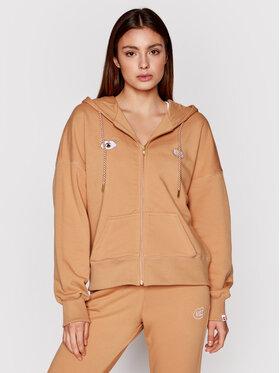 PLNY LALA PLNY LALA Sweatshirt Look And Kiss Miss PL-BL-MZ-00004 Marron Regular Fit