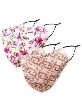 Liu Jo Liu Jo 2 db-os textil szájmaszk Kit X2 Mascherine ZA1001 T0300 Rózsaszín