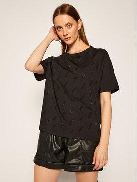 Liu Jo Liu Jo T-Shirt TF0091 J5923 Czarny Regular Fit