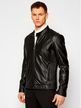 Trussardi Trussardi Bunda z imitace kůže Biker Soft 52S00600 Černá Regular Fit
