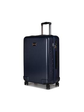 Puccini Puccini Közepes keményfedelű bőrönd Panama PC029B 7A Sötétkék