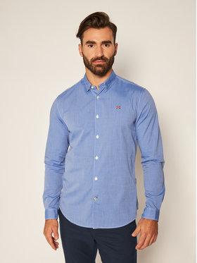 Napapijri Napapijri Marškiniai Girb NP0A4ENH Mėlyna Urban Fit