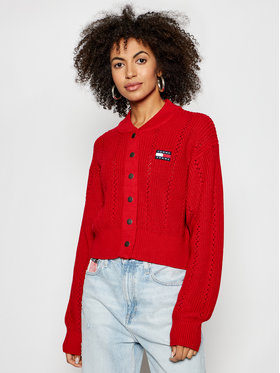 Tommy Jeans Tommy Jeans Кардиган Bomber DW0DW10125 Червен Regular Fit
