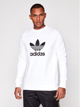adidas adidas Μπλούζα Trefoil Crew DV1544 Λευκό Standard Fit