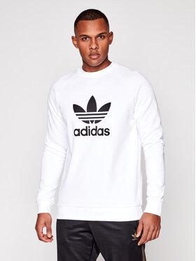 adidas adidas Sweatshirt Trefoil Crew DV1544 Blanc Standard Fit