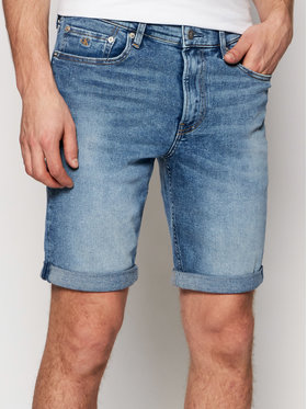 Calvin Klein Jeans Calvin Klein Jeans Short en jean J30J317739 Bleu marine Slim Fit
