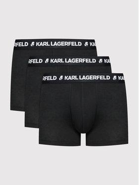 KARL LAGERFELD KARL LAGERFELD 3 pár boxer Logo 211M2104 Fekete