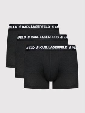 KARL LAGERFELD KARL LAGERFELD 3er-Set Boxershorts Logo 211M2104 Schwarz
