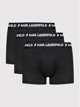 KARL LAGERFELD KARL LAGERFELD Комплект 3 чифта боксерки Logo 211M2104 Черен