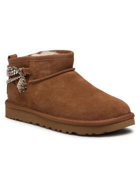 Ugg Ugg Chaussures W Classic Ultra Mini Chains 1117933 Marron