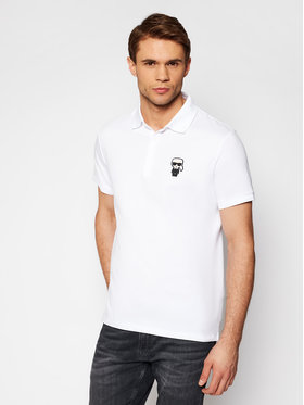 KARL LAGERFELD KARL LAGERFELD Polo marškinėliai Crewneck 745021 511221 Balta Regular Fit