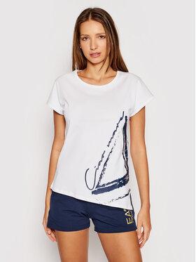 EA7 Emporio Armani EA7 Emporio Armani T-shirt 3KTT44 TJ4PZ 1100 Bianco Regular Fit