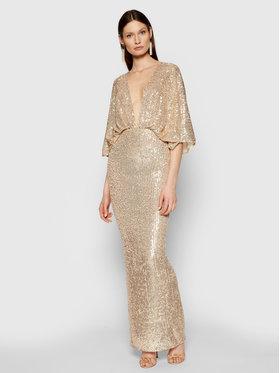 Elisabetta Franchi Elisabetta Franchi Večerní šaty AB-014-11E2-V560 Zlatá Slim Fit