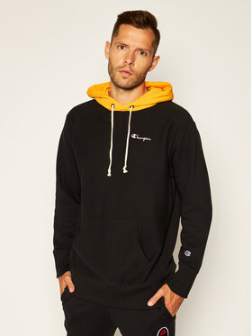 Champion Champion Bluză Contrast Hood 215164 Negru Oversize