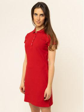 Tommy Hilfiger Tommy Hilfiger Φόρεμα καθημερινό Pique WW0WW27949 Κόκκινο Slim Fit